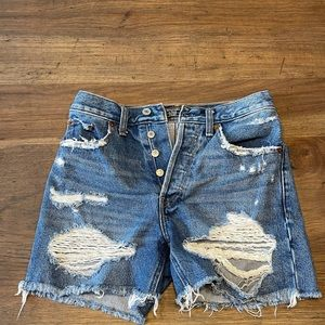 Abercrombie & Fitch High Rise Jean Short